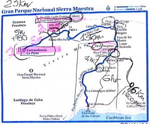 Mappa Pico Turquino